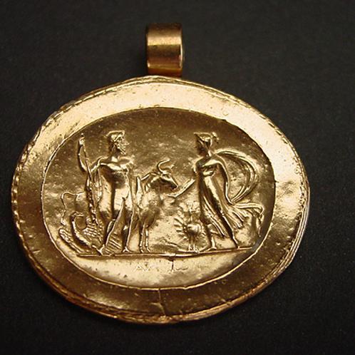 Zeus and Hera cameo pendant
