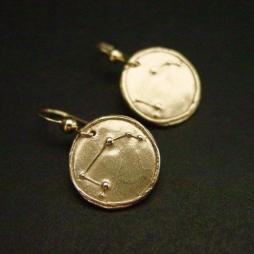 Aries Zodiac horoscope constellation earrings