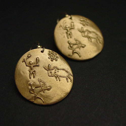 Cave Painting earrings