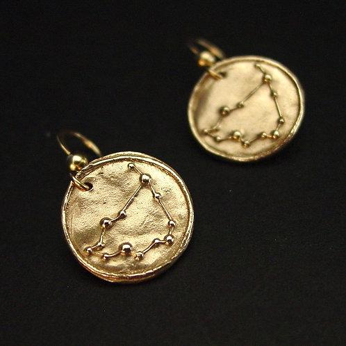 Capricorn zodiac horoscope constellation earrings