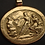 Hermes wooing Aphrodite cameo pendant