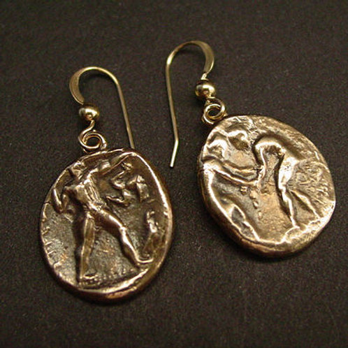 Westlers coin earrings