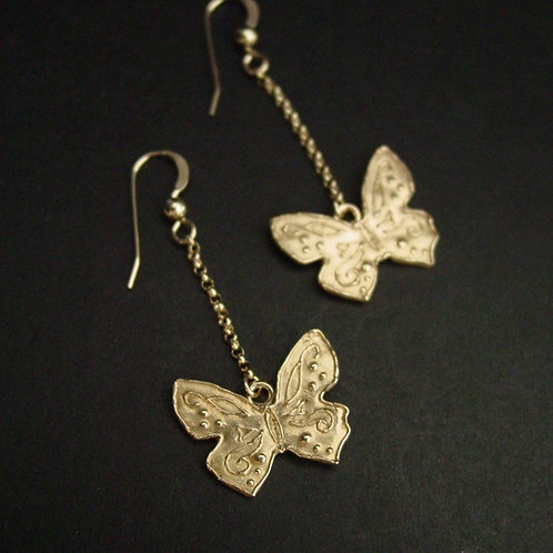 Small butterfly earrings
