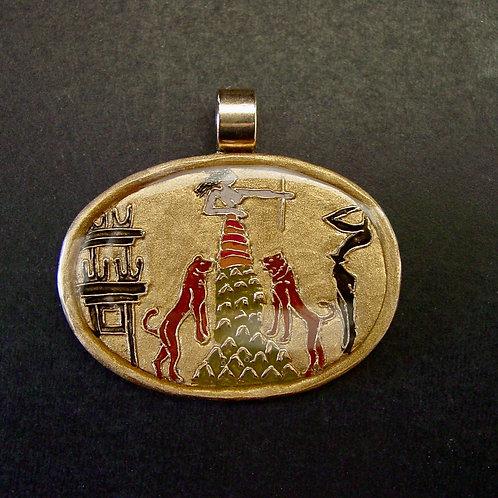 Minoan mountain goddess pendant