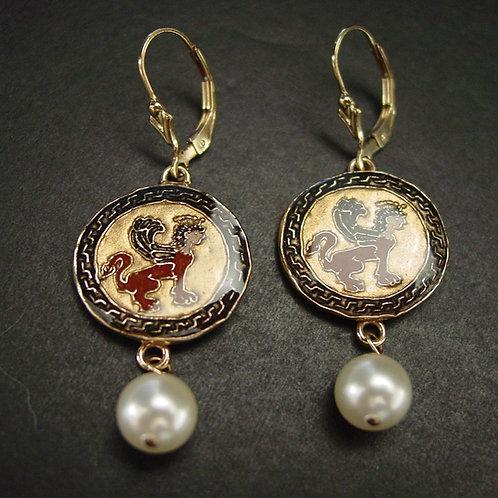 Greek Sphinx earrings