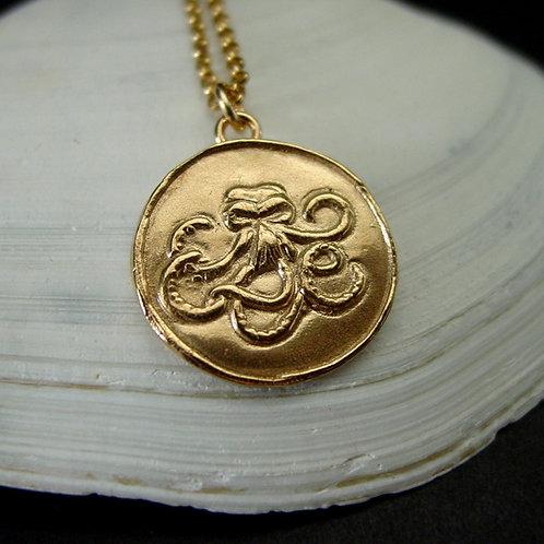 Kraken necklace on chain