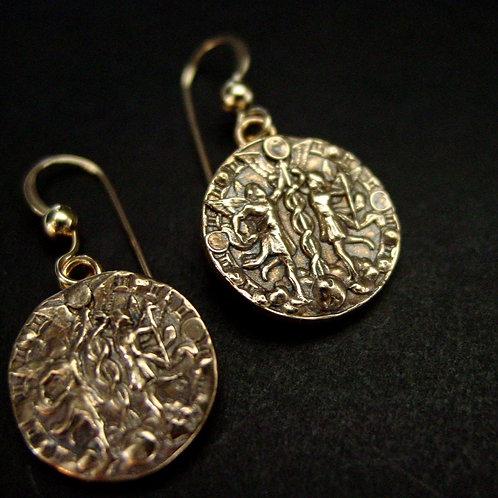 Gemini coin earrings