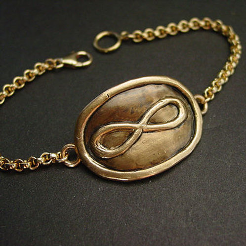 Large infinity bracelet for men