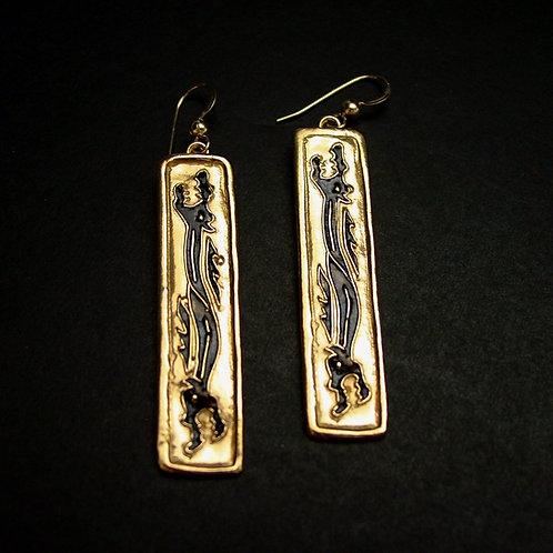 Two headed dragon earrings