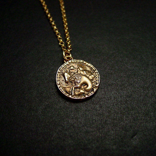 Capricorn Antiqued necklace