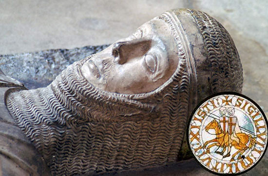 Tomb of a Knight Templar in Lorraine