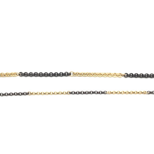 Black and gold chains