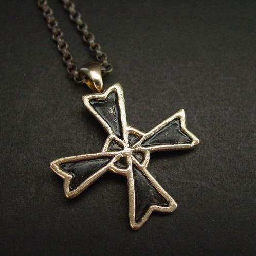 lyst konstantino in jewelry pendant silver selene metallic maltese gold cross