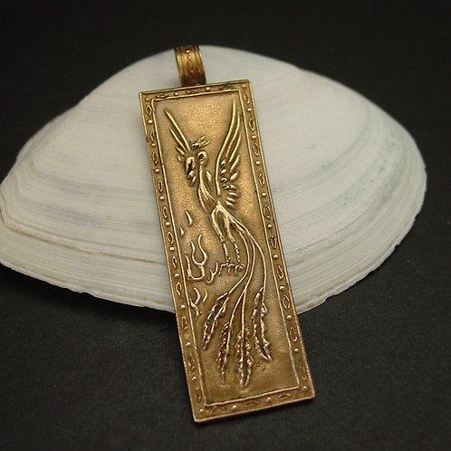 Phoenix pendant close up