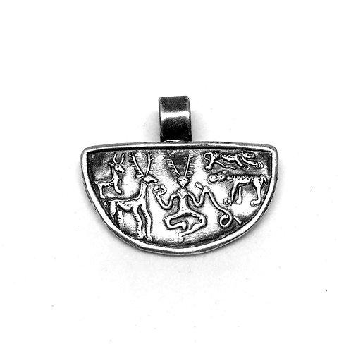 Cernunnos silver pendant