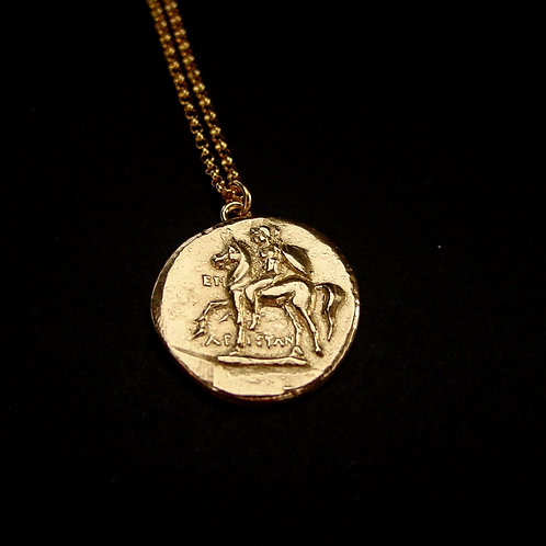 Nomos warrior coin necklace