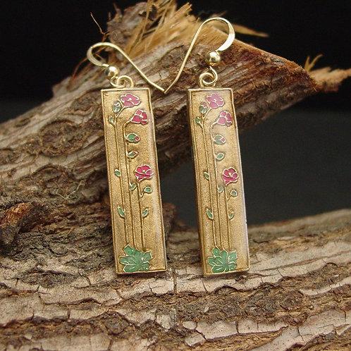Calandrinia earrings