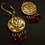 Greek lotus earrings with rubies