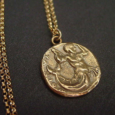 Triton coin necklace