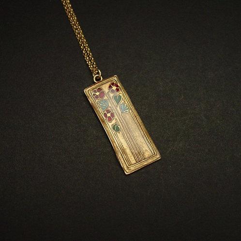 Daisies art deco necklace