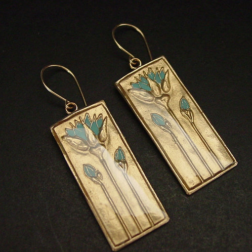 Egyptian Blue Lotus earrings