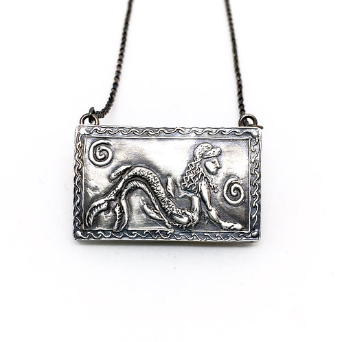 Etruscan Mermaid | Siren necklace - Silver