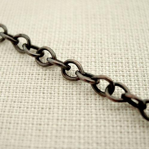 Aged bronze chain