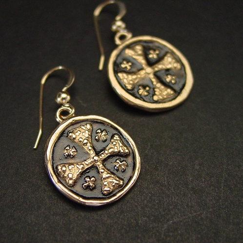 Jerusalem cross earrings