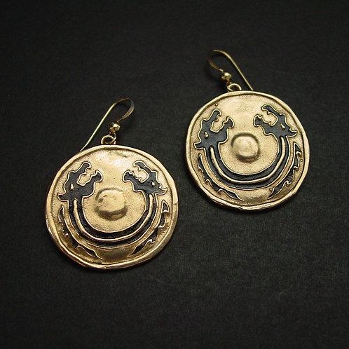 Viking dragon Shield earrings zoom out