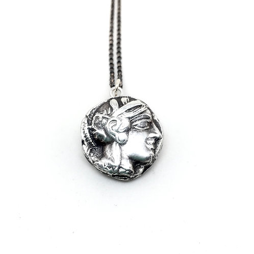 Athena coin 449 bc silver necklace