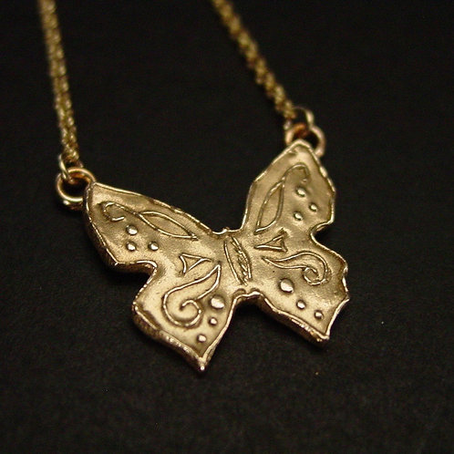 Small butterfly necklace