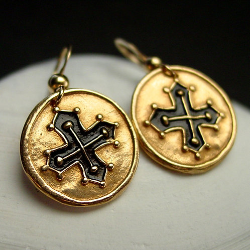 Croix occitane earrings