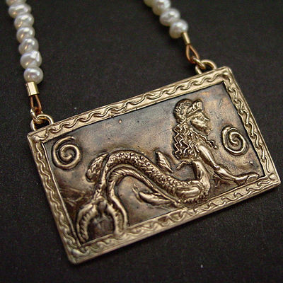 Etruscan Mermaid Necklace