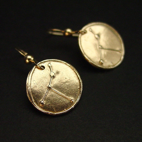 Cancer Zodiac horoscope constellation earrings