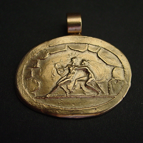Apollo and the nymph Cyrene - Pendant