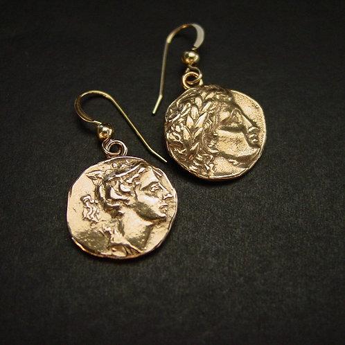 Artemis and Apollo Earrings