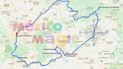 Pueblos magicos y conventos Puebla y Mor