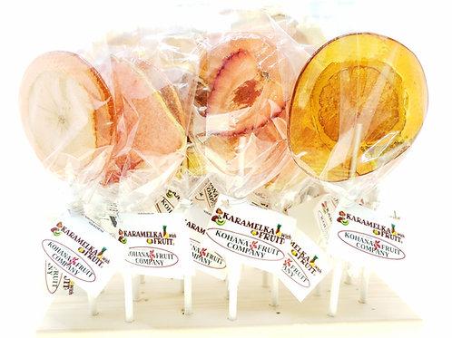 Karamelka with Fruits Lollipops 24 lollipops