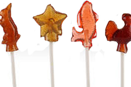 ORIGINAL BURNT SUGAR 4 PACK LOLLIPOPS