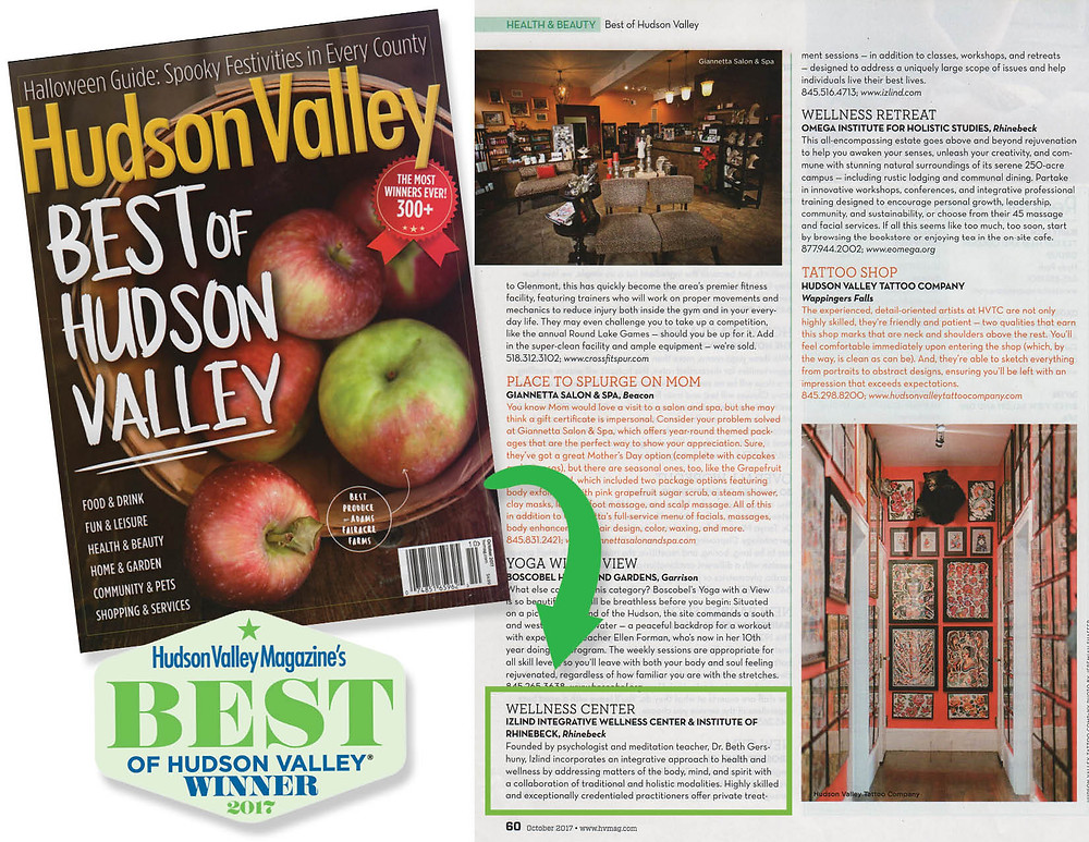 Hudson Valley Magazine, Best of 2017 Edition Cover
