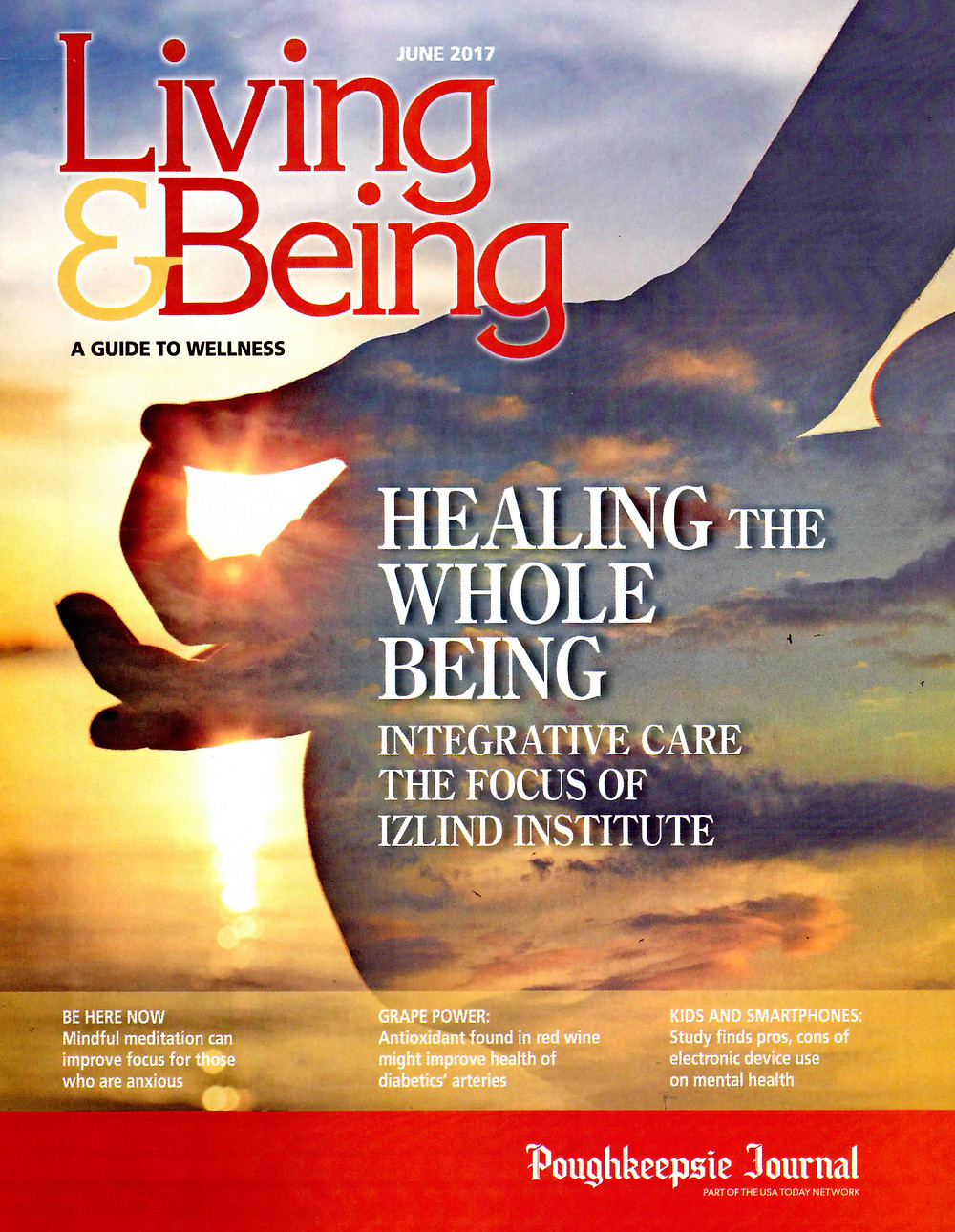 Living & Being Magazine Cover, June 2017