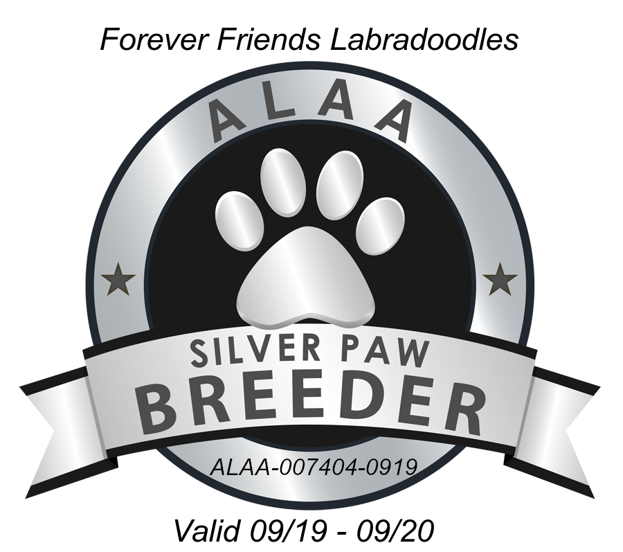 Forever Friends ALAA Silver Paw Logo Mas