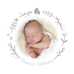 Geburtskarte Maurice