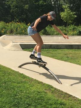 Tiana Miles at Bethel Skatepark