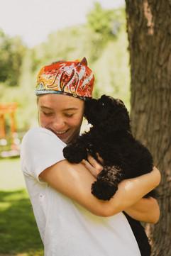 Paige & Puppy