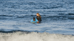 Paige Teaching Reshma to Surf 2020