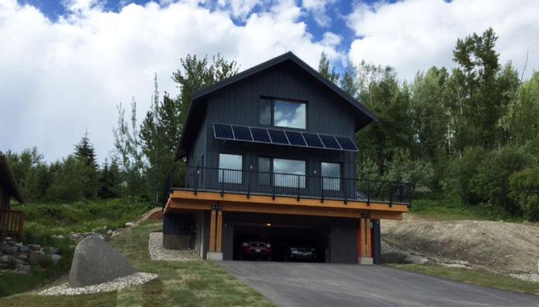 Rossland Passive House Healthy Home Solar Panel Shading Nido Design