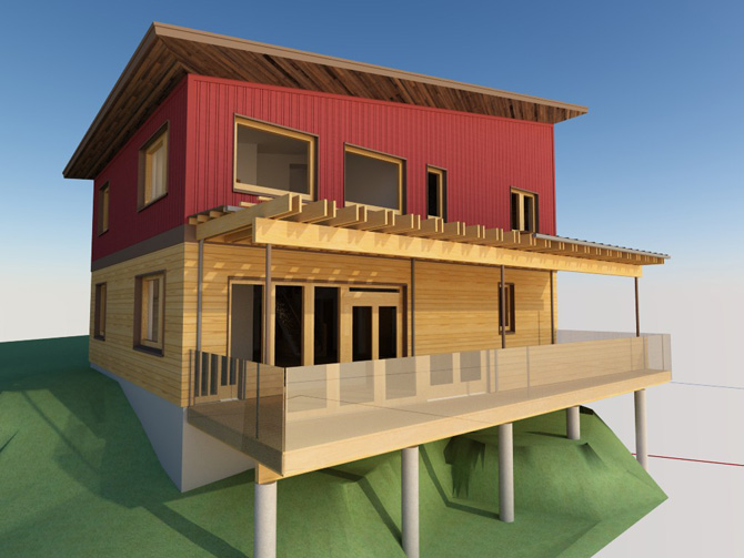 bowen-island-passive-house rendering