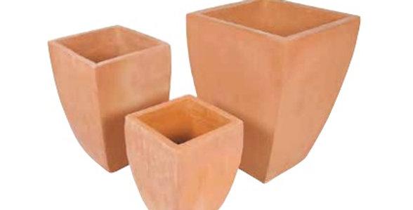 Milan Square Terracotta set (3)