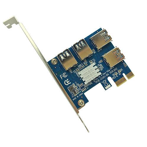 1 a 4 PCI-E Adaptador PCI-Express Slot 1x a 16x USB 3.0